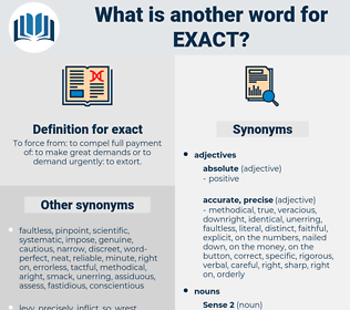 exact, synonym exact, another word for exact, words like exact, thesaurus exact