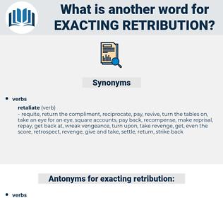 exacting retribution, synonym exacting retribution, another word for exacting retribution, words like exacting retribution, thesaurus exacting retribution
