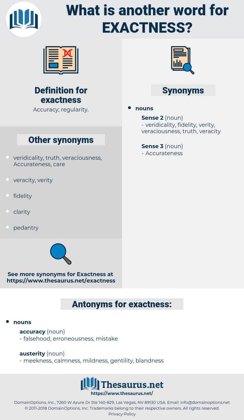 exactness, synonym exactness, another word for exactness, words like exactness, thesaurus exactness