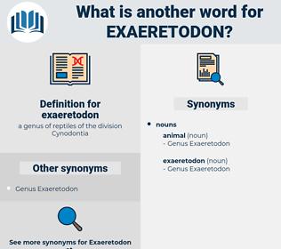 exaeretodon, synonym exaeretodon, another word for exaeretodon, words like exaeretodon, thesaurus exaeretodon