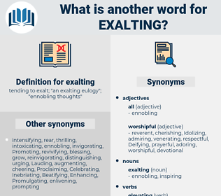exalting, synonym exalting, another word for exalting, words like exalting, thesaurus exalting