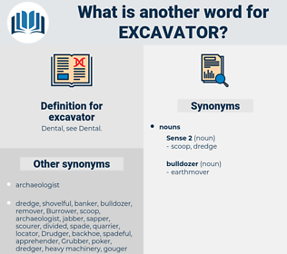 excavator, synonym excavator, another word for excavator, words like excavator, thesaurus excavator