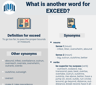 exceed, synonym exceed, another word for exceed, words like exceed, thesaurus exceed