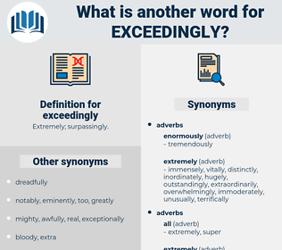 exceedingly, synonym exceedingly, another word for exceedingly, words like exceedingly, thesaurus exceedingly