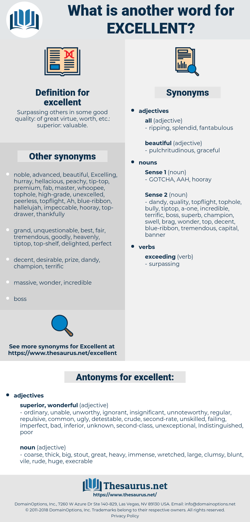 excellent, synonym excellent, another word for excellent, words like excellent, thesaurus excellent