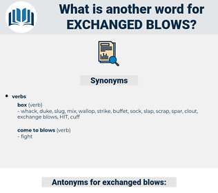 exchanged blows, synonym exchanged blows, another word for exchanged blows, words like exchanged blows, thesaurus exchanged blows