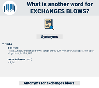 exchanges blows, synonym exchanges blows, another word for exchanges blows, words like exchanges blows, thesaurus exchanges blows