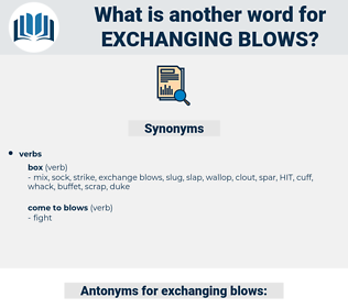 exchanging blows, synonym exchanging blows, another word for exchanging blows, words like exchanging blows, thesaurus exchanging blows