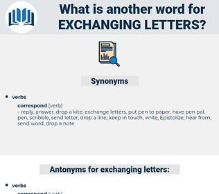 exchanging letters, synonym exchanging letters, another word for exchanging letters, words like exchanging letters, thesaurus exchanging letters