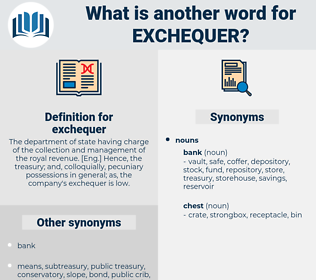 exchequer, synonym exchequer, another word for exchequer, words like exchequer, thesaurus exchequer