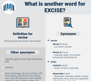 excise, synonym excise, another word for excise, words like excise, thesaurus excise
