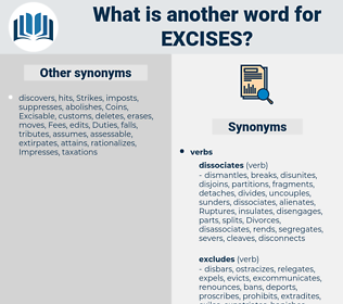 excises, synonym excises, another word for excises, words like excises, thesaurus excises