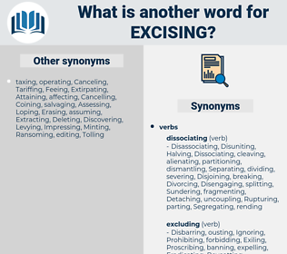 Excising, synonym Excising, another word for Excising, words like Excising, thesaurus Excising