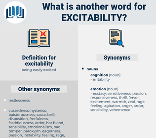 excitability, synonym excitability, another word for excitability, words like excitability, thesaurus excitability
