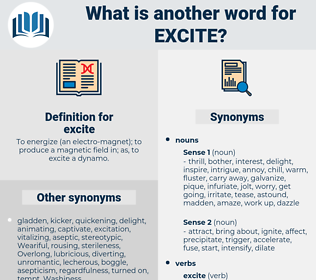 excite, synonym excite, another word for excite, words like excite, thesaurus excite