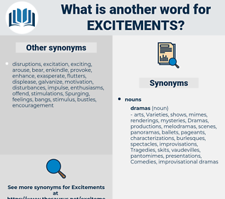 excitements, synonym excitements, another word for excitements, words like excitements, thesaurus excitements