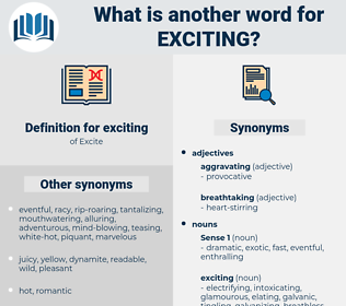exciting, synonym exciting, another word for exciting, words like exciting, thesaurus exciting