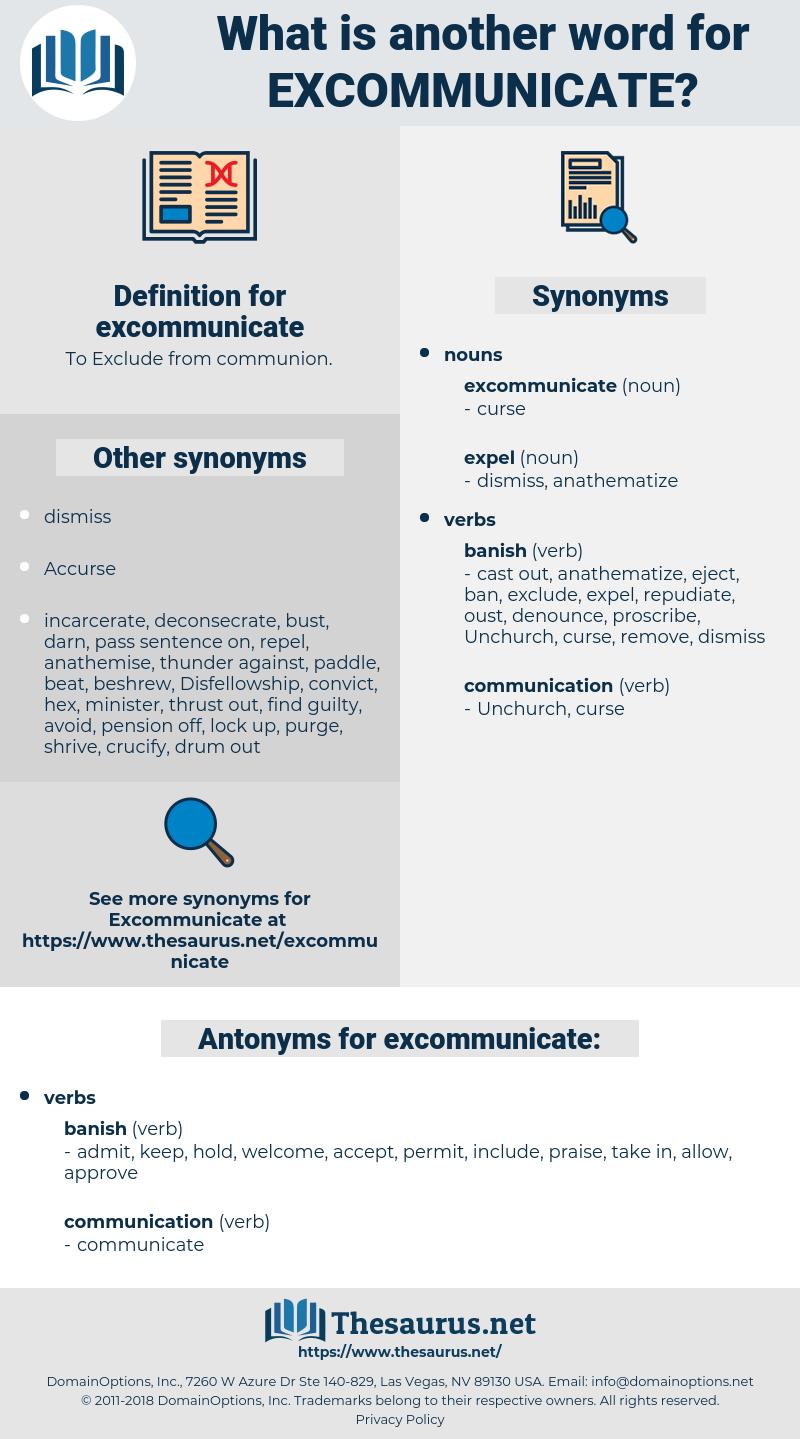 excommunicate, synonym excommunicate, another word for excommunicate, words like excommunicate, thesaurus excommunicate