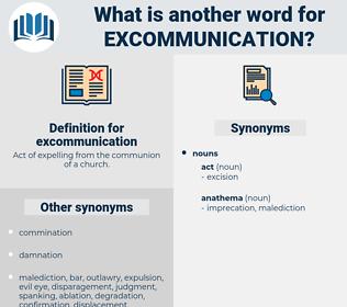 excommunication, synonym excommunication, another word for excommunication, words like excommunication, thesaurus excommunication