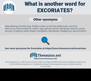 excoriates, synonym excoriates, another word for excoriates, words like excoriates, thesaurus excoriates