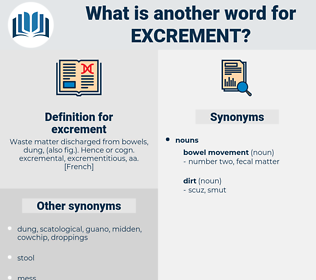 excrement, synonym excrement, another word for excrement, words like excrement, thesaurus excrement