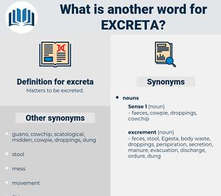 excreta, synonym excreta, another word for excreta, words like excreta, thesaurus excreta