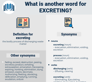 excreting, synonym excreting, another word for excreting, words like excreting, thesaurus excreting