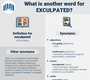 exculpated, synonym exculpated, another word for exculpated, words like exculpated, thesaurus exculpated