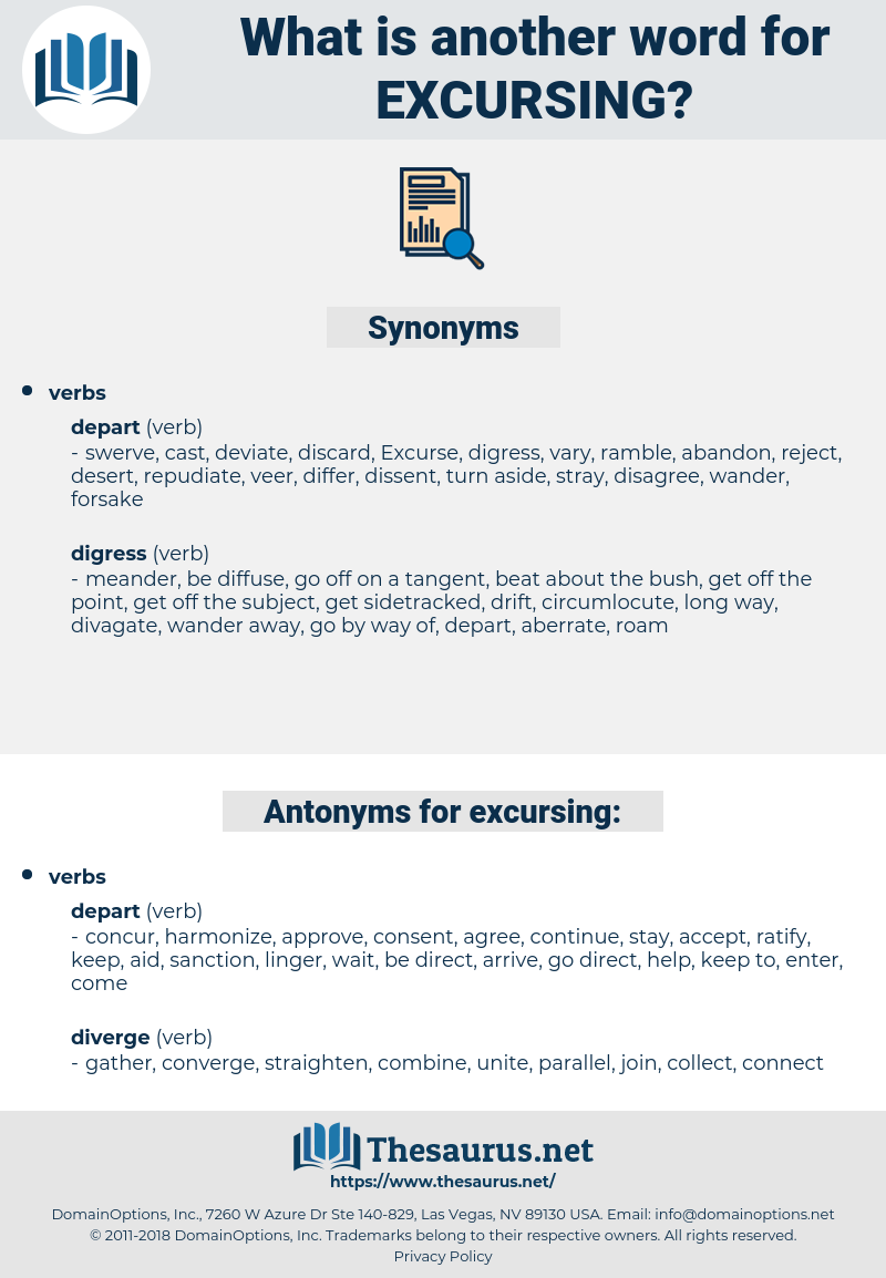 excursing, synonym excursing, another word for excursing, words like excursing, thesaurus excursing