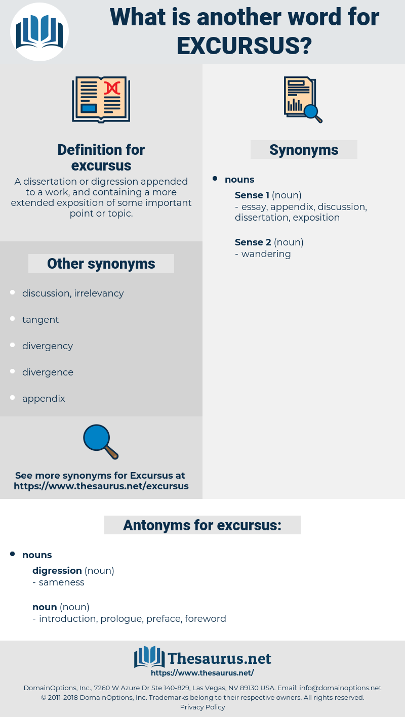 excursus, synonym excursus, another word for excursus, words like excursus, thesaurus excursus