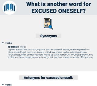 excused oneself, synonym excused oneself, another word for excused oneself, words like excused oneself, thesaurus excused oneself