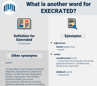 Execrated, synonym Execrated, another word for Execrated, words like Execrated, thesaurus Execrated
