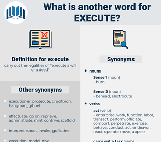 execute, synonym execute, another word for execute, words like execute, thesaurus execute