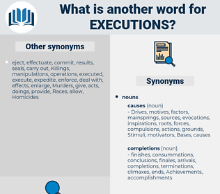 executions, synonym executions, another word for executions, words like executions, thesaurus executions