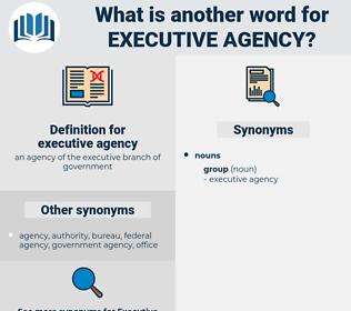 executive agency, synonym executive agency, another word for executive agency, words like executive agency, thesaurus executive agency