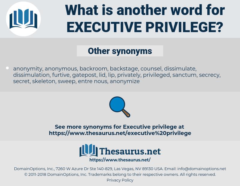 executive privilege, synonym executive privilege, another word for executive privilege, words like executive privilege, thesaurus executive privilege