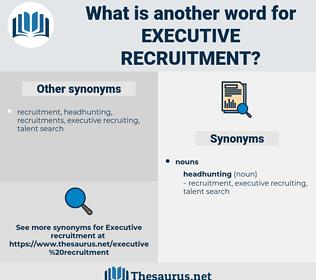 executive recruitment, synonym executive recruitment, another word for executive recruitment, words like executive recruitment, thesaurus executive recruitment