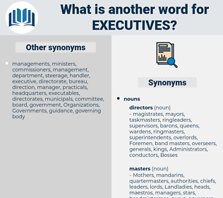 executives, synonym executives, another word for executives, words like executives, thesaurus executives