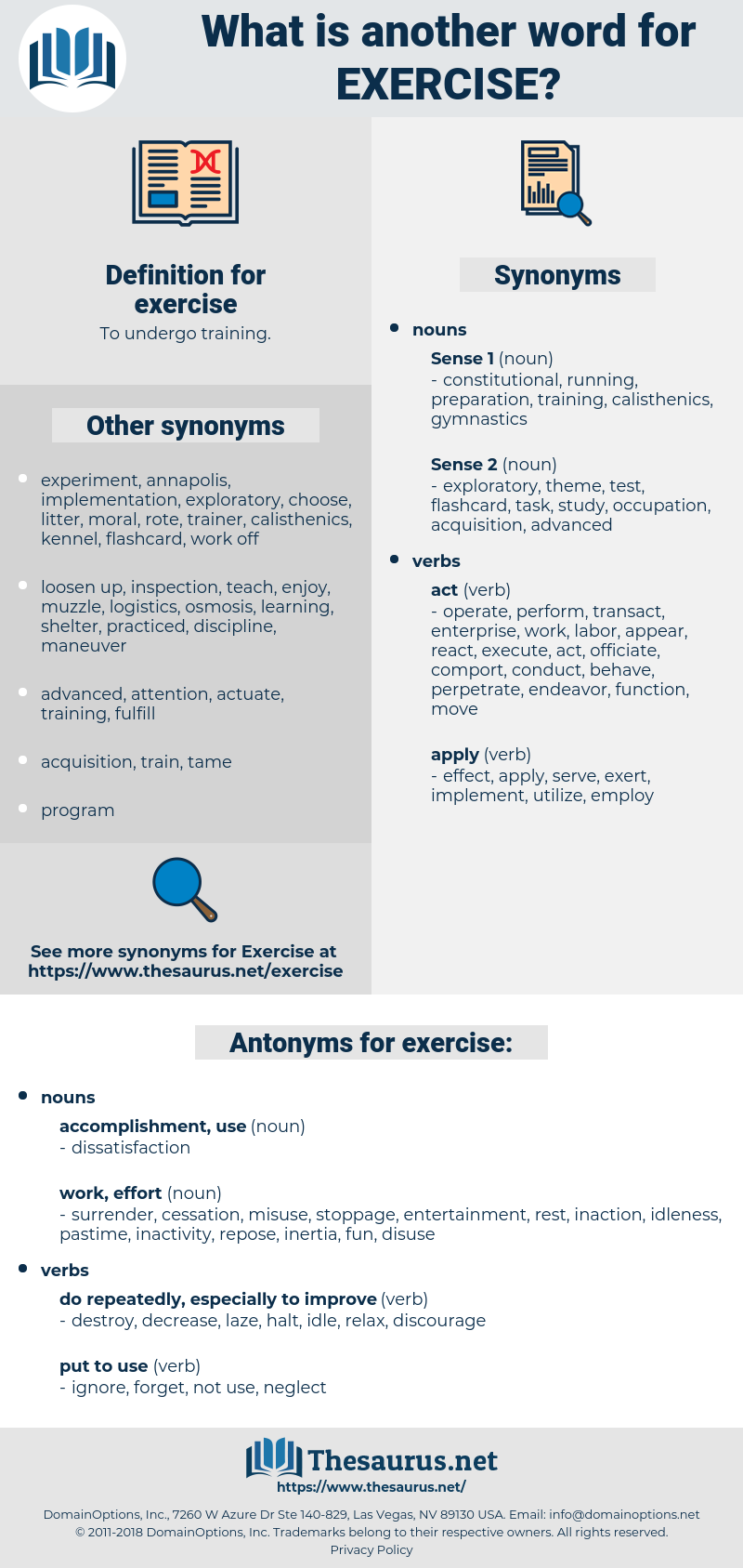 exercise, synonym exercise, another word for exercise, words like exercise, thesaurus exercise