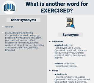 Exercised, synonym Exercised, another word for Exercised, words like Exercised, thesaurus Exercised