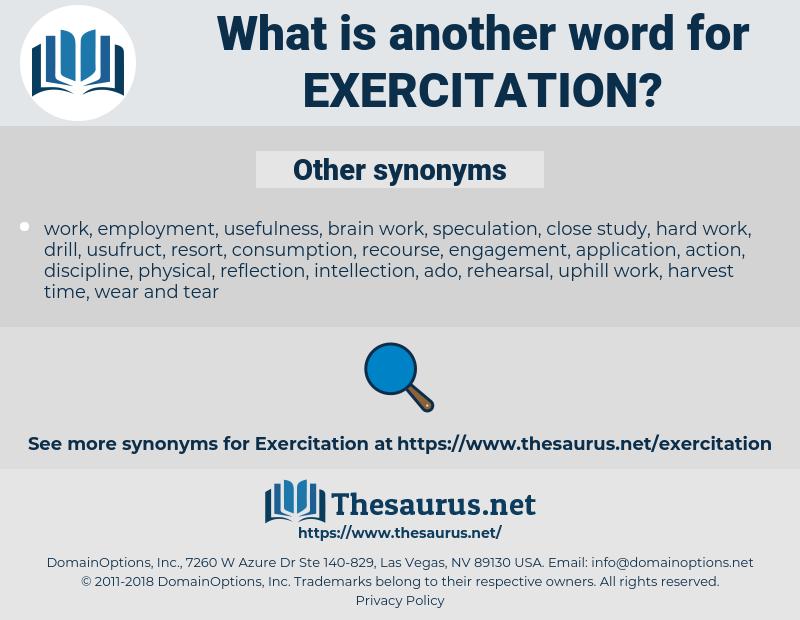 Exercitation, synonym Exercitation, another word for Exercitation, words like Exercitation, thesaurus Exercitation