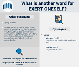 exert oneself, synonym exert oneself, another word for exert oneself, words like exert oneself, thesaurus exert oneself