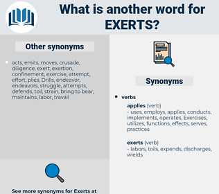 exerts, synonym exerts, another word for exerts, words like exerts, thesaurus exerts