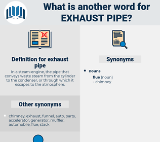 exhaust pipe, synonym exhaust pipe, another word for exhaust pipe, words like exhaust pipe, thesaurus exhaust pipe