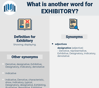 Exhibitory, synonym Exhibitory, another word for Exhibitory, words like Exhibitory, thesaurus Exhibitory