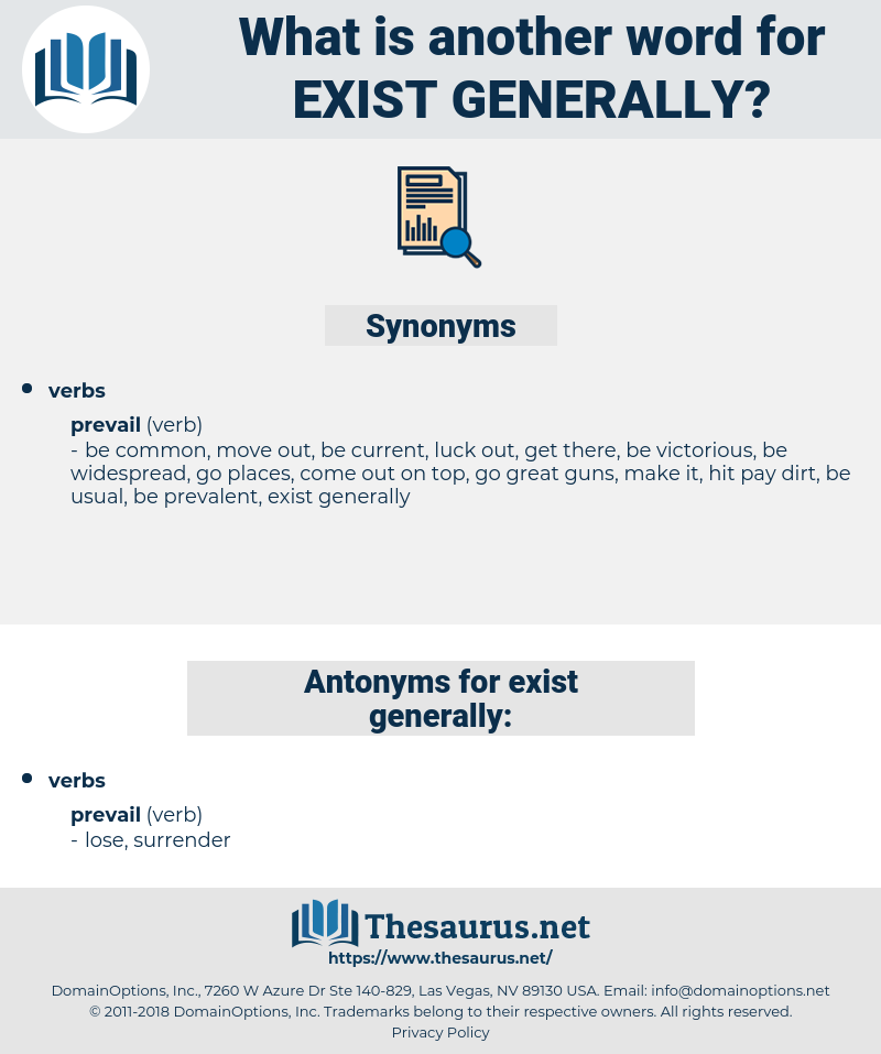 exist generally, synonym exist generally, another word for exist generally, words like exist generally, thesaurus exist generally