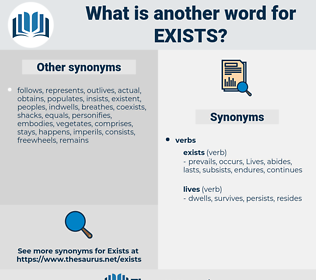 exists, synonym exists, another word for exists, words like exists, thesaurus exists