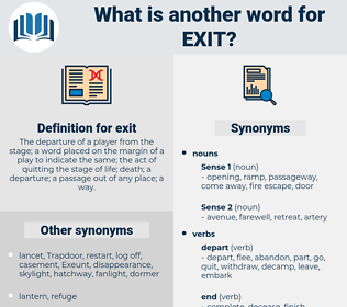exit, synonym exit, another word for exit, words like exit, thesaurus exit