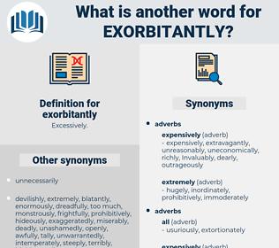 exorbitantly, synonym exorbitantly, another word for exorbitantly, words like exorbitantly, thesaurus exorbitantly
