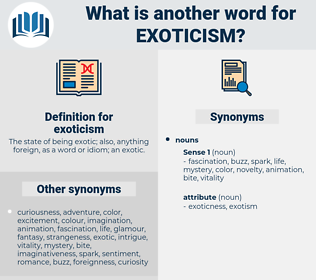 exoticism, synonym exoticism, another word for exoticism, words like exoticism, thesaurus exoticism